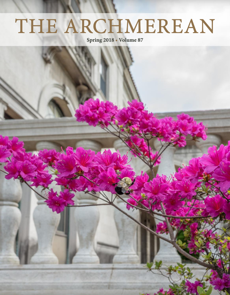 A photo of the cover of The Archmerean's Spring 2018 issue.