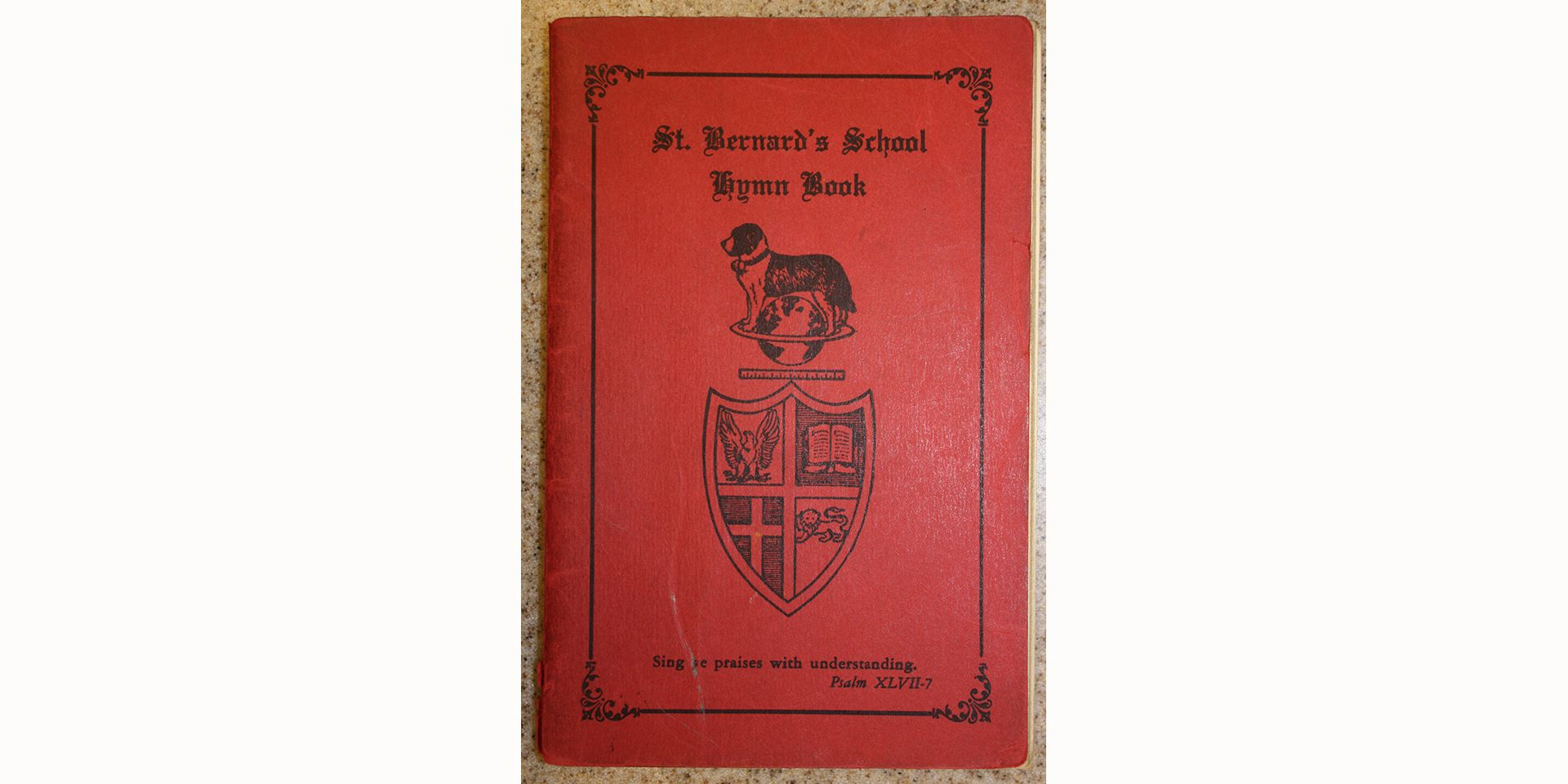 <center>Hymn Book, given to the boys upon entering the first grade</center>