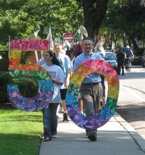 Head of School Peter Sommer leads 50th Anniversary Parade 30 September 2011