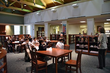 The 15,000-volume library includes subscriptions to several print periodicals, a professional library for faculty and a parenting library for LFCDS families.