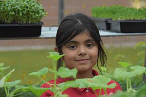 LFCDS Student in the Greenhouse
