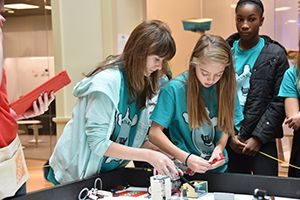 Seventh-Grade Robotics Competition