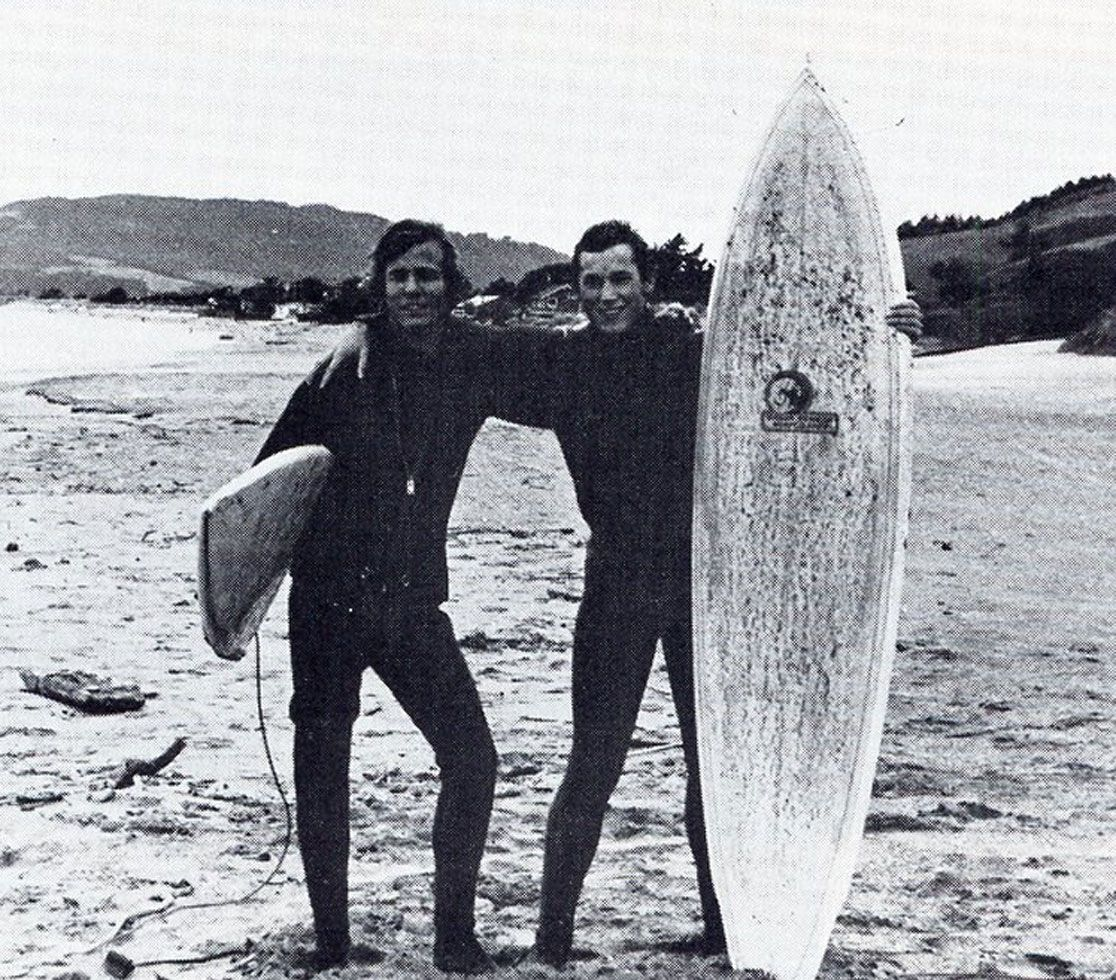 Even back in the day, MA students loved to surf!