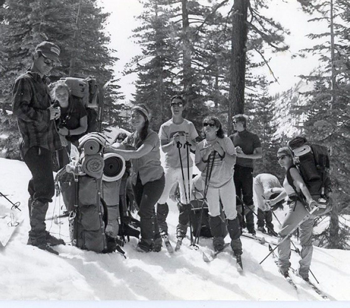 a group of MA winter explorers from 1983.