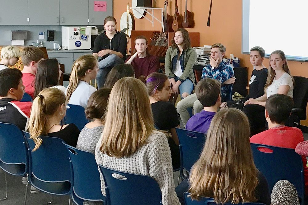 Queer Panel at Mark Day School, 8th grade