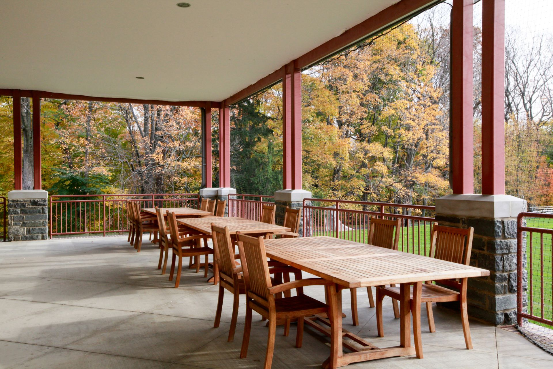 Vare Field House Porch, Cherokee Campus