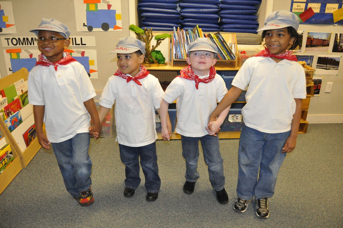 Pre-K boys sing train songs