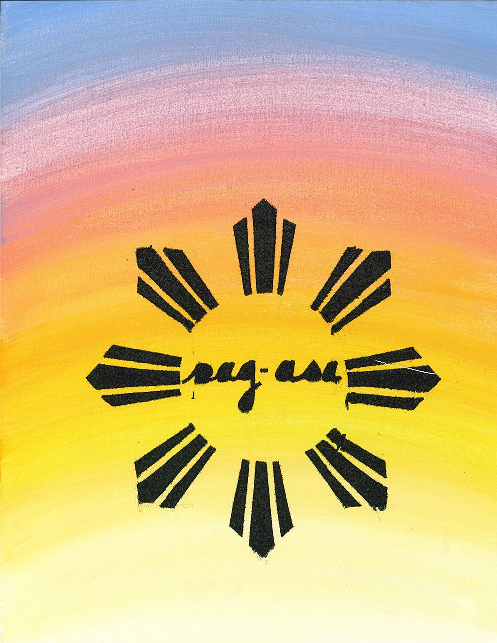 Sun from the Filipino flag that symbolizes hope.