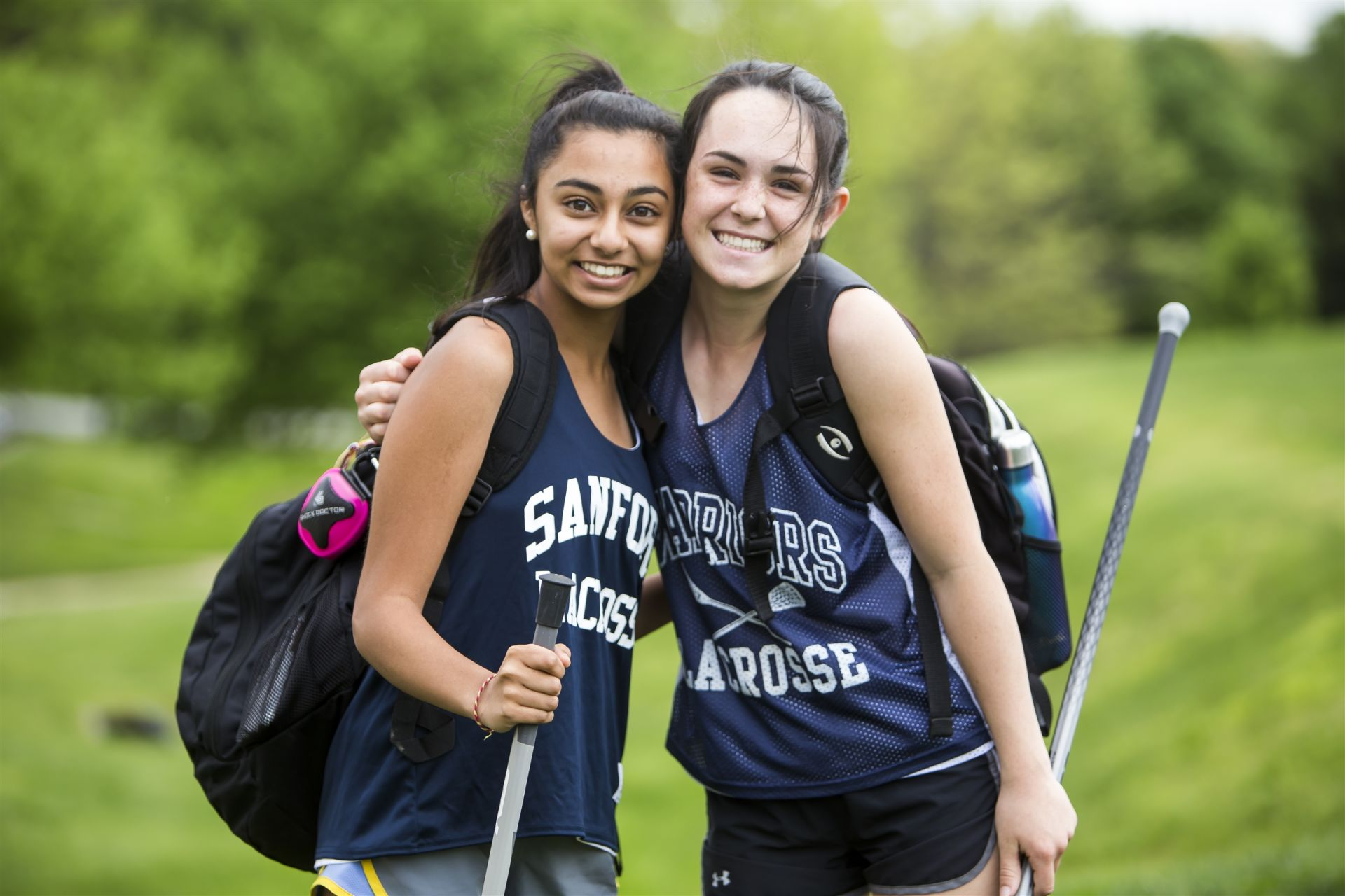 Upper school students prepare for after-school sports.
