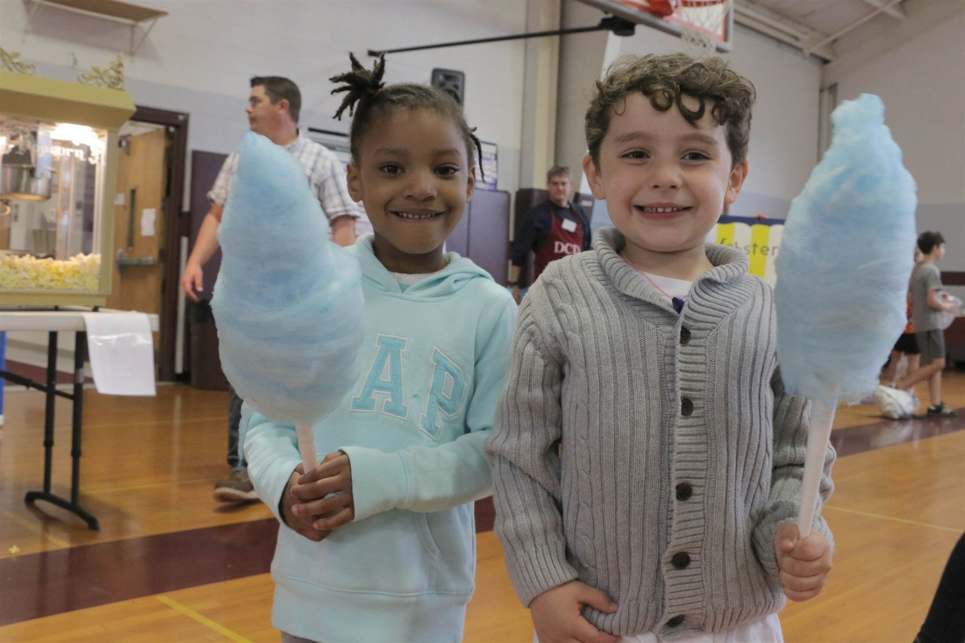Time with your best buddy at the DCD Fair and a big blue cotton candy.  What could be better?