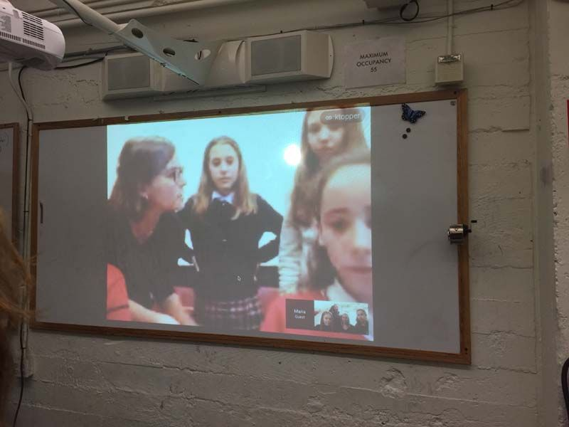 This week the Technovation teams had a video chat with another team and their mentor from Madrid! The teams had a chance to share and get feedback on the apps they're coding and to share tips for making the competition deadlines. Bonus was an opportunity for our girls to use their Spanish speaking skills.