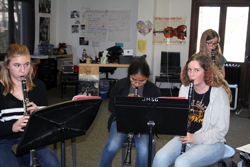 Seventh graders are learning how to play the clarinet!
