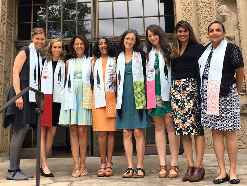 Faculty & Staff who have been at JMSG for 5 years or more are wearing stoles the girls have designed and embroidered for them. Faculty & Staff are recognized for how their years have made a difference in the lives of our students and they wear their stoles on graduation day to symbolize how we are all JMSG.