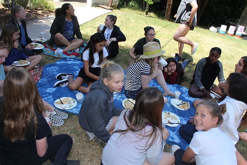 Seventh graders hosted 6th grade students to a stepping up lunch gathering called Inca Day.