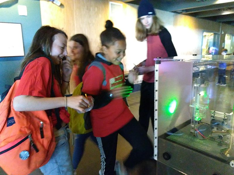 Seventh graders recently visited the San Francisco Exploratorium. The trip was for students to practice scientific exploration and curiosity.