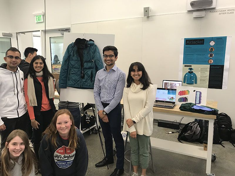 The Jacobs Institute of Design at UC Berkeley held their Winter Design Showcase this week. Student designers presented their projects which focus on health and mobility. This was a great introduction for our 7th grade class to the STEAM prosthetic project.