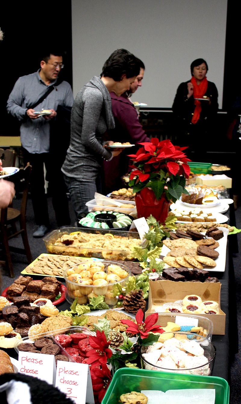 A big highlight is sharing baked treats for the dessert potluck.