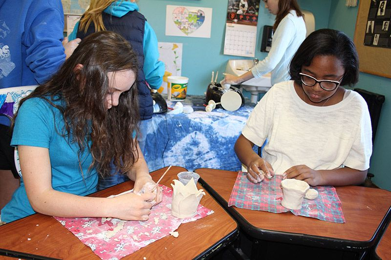 After reading A Single Shard by Linda Sue Park, 7th graders attempt to re-create the intricate work of the 13th c. Korean celadon potters.