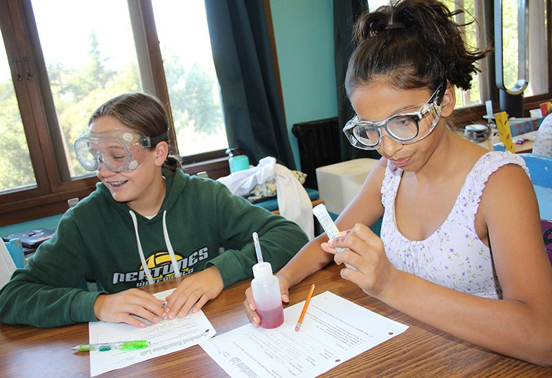 As an introduction to the Chemistry Unit, 8th graders observed an exothermic chemical reaction in a bag. They then performed follow-up experiments to determine which combination of substances caused the heat.