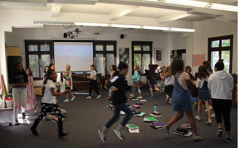 Follow the leader: learning to count on two and four in 6th Grade Music class.