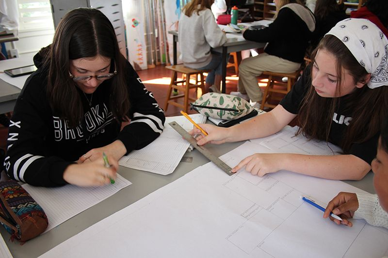 Eighth graders begin designing their dream home in STEAM class.