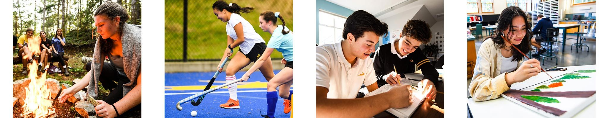 Shawnigan students participate in a wide range of school activities