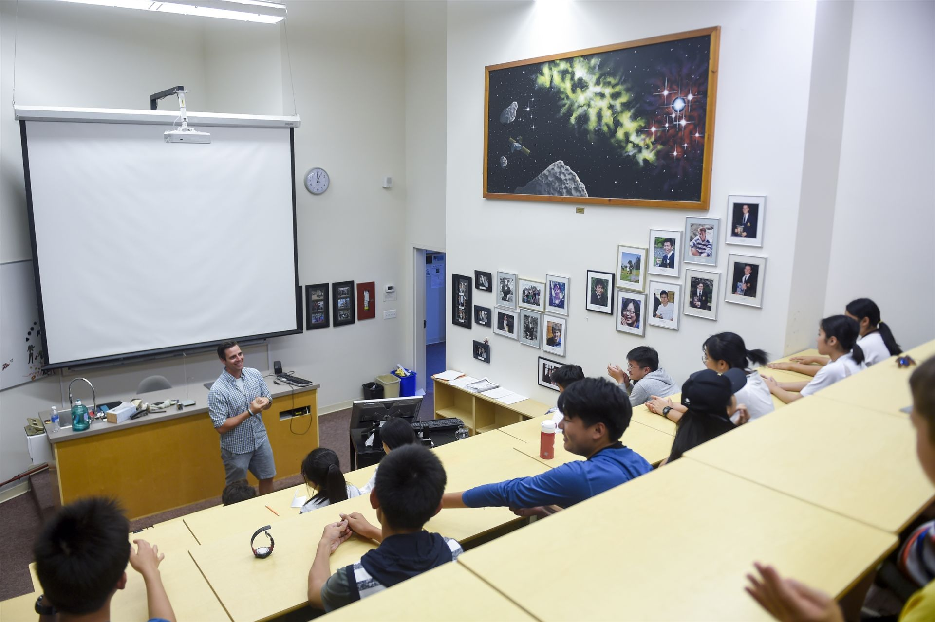 University-style classrooms promote learning and interaction.