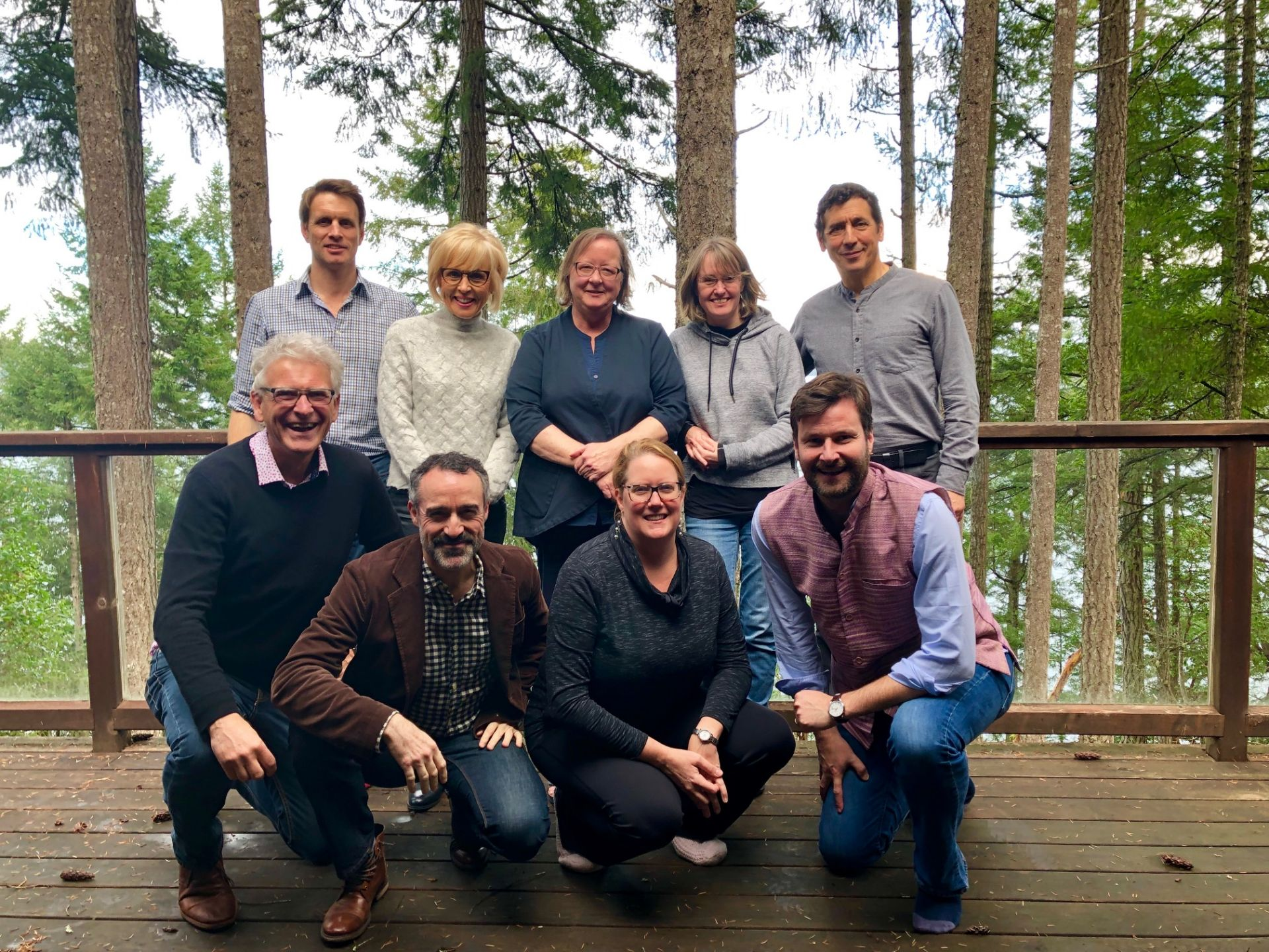 The Shawnigan Senior Leadership Team on Thetis Island — discussing and collaborating on new initiatives.