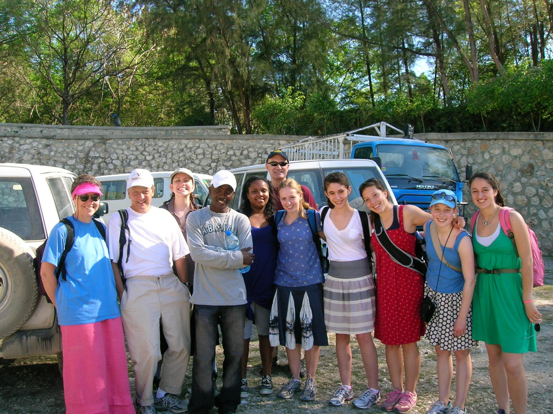 The group before they set off for their 2 hour hike to St. Paul's School.