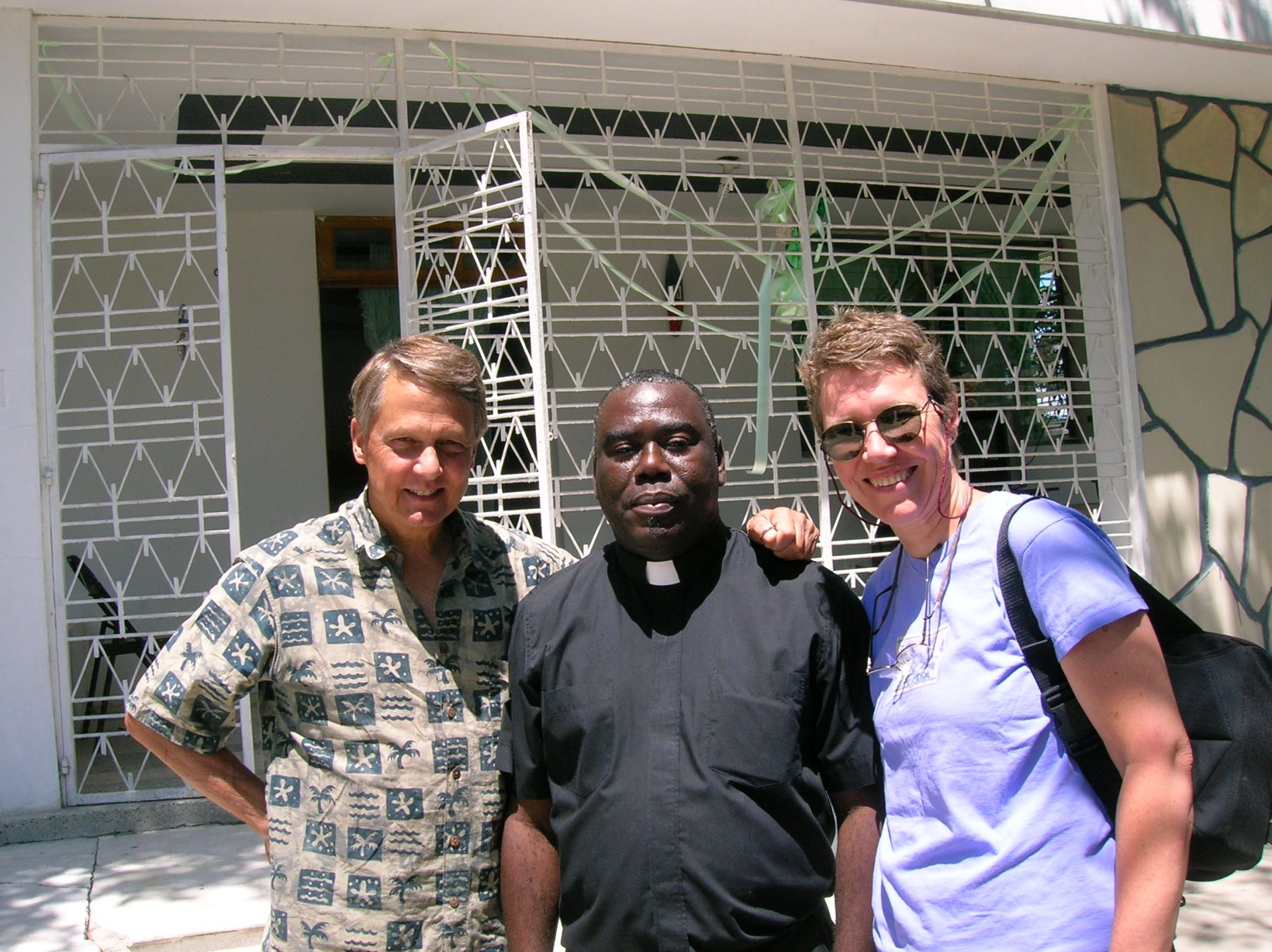 Reverend Roger Bowen, Pere Jeannot, and Serena Beeks were our guides and host during our stay in Haiti.