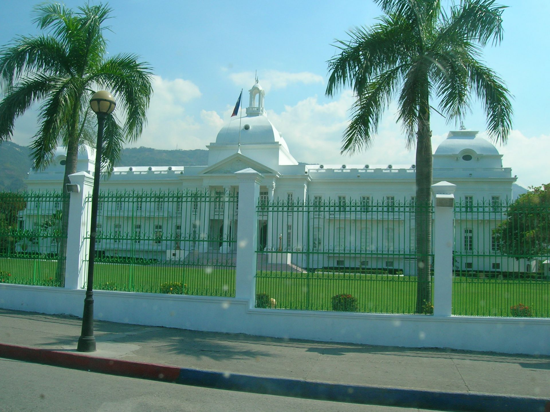 Back in Port au Prince, we drove past the Presidential Palace.