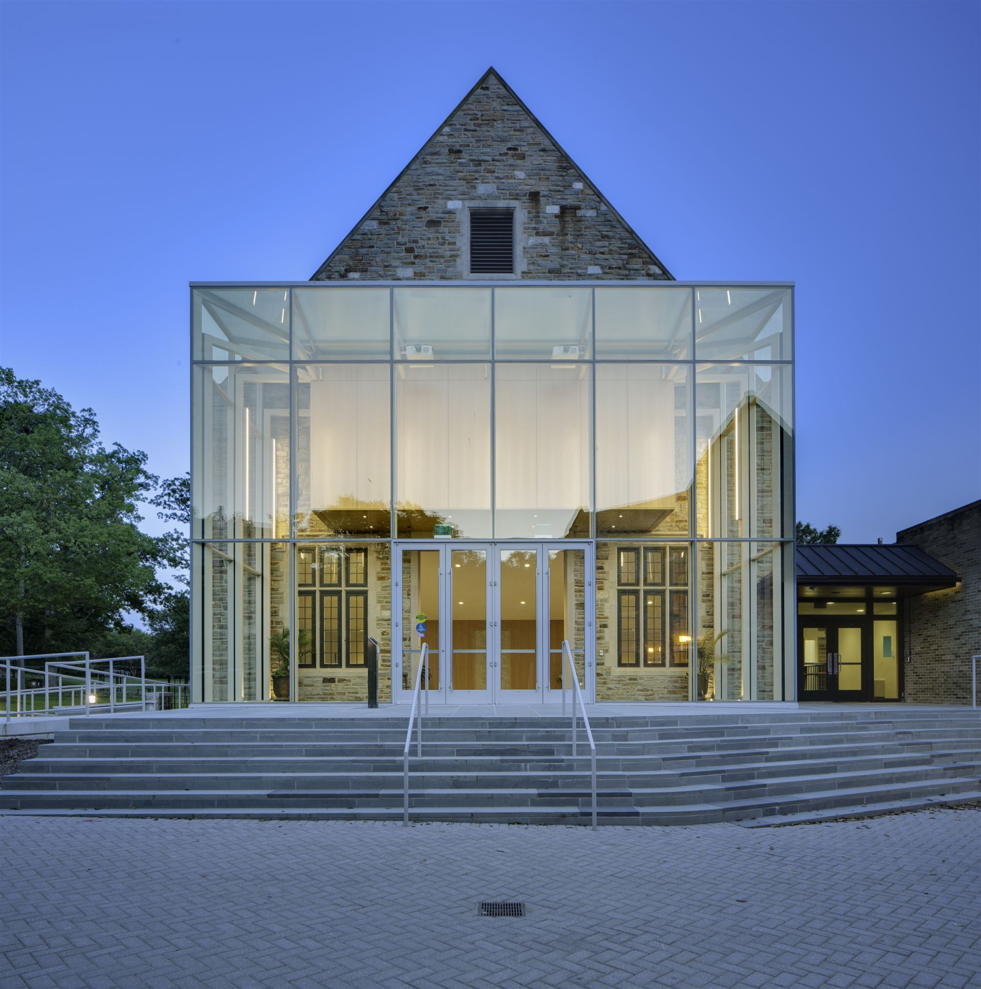 Forbush Building Glass Atrium