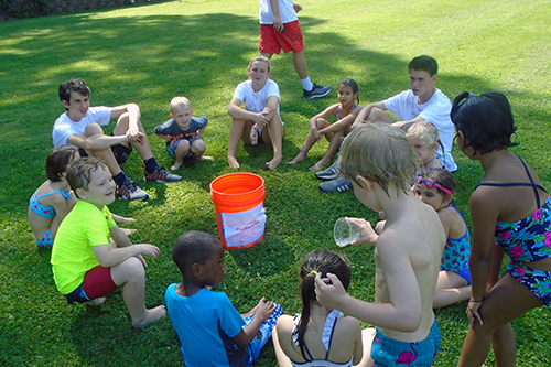 Intermediate Campers Playing Drip-Drip-Splash