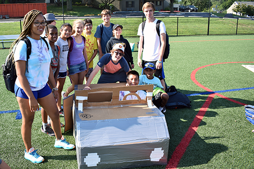 Video Camp Showing Off Their Golf Cart Boat for the Boat Races