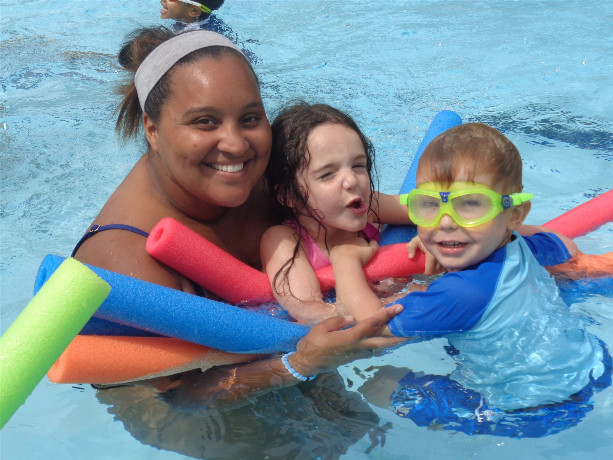 Junior Campers at the Pool with Assistant Director Mikayla
