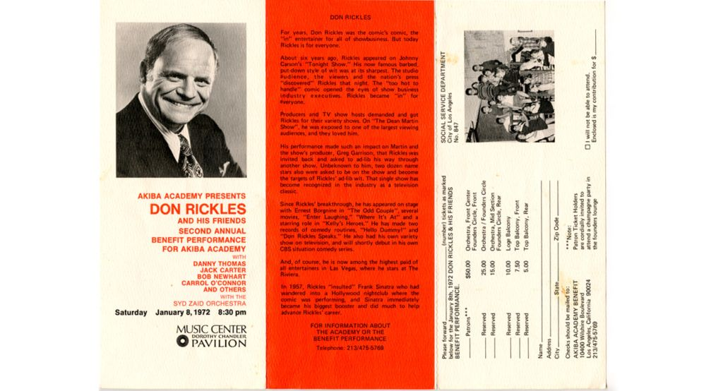 Second of Three Fundraisers hosted by Don Rickles.