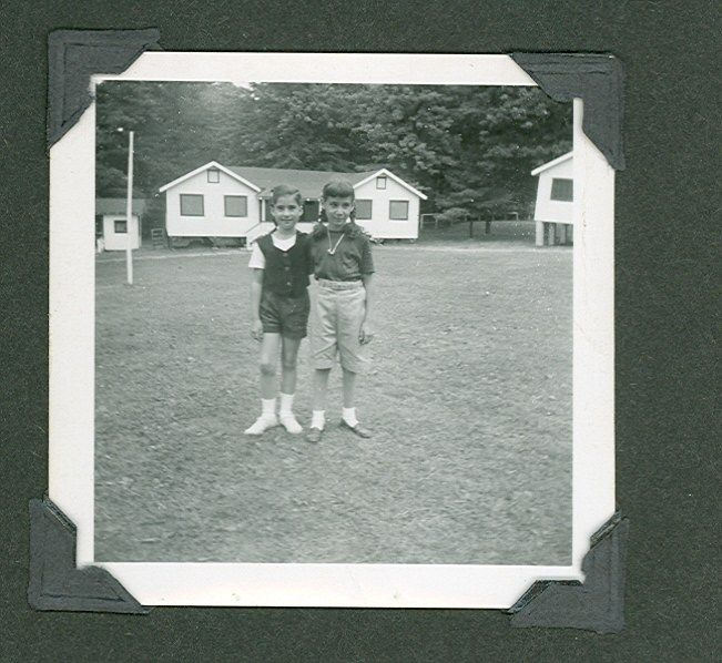 Nancy Shapiro, Liz Gould at Camp Brookwood, 1954