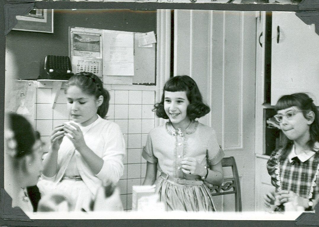 Mickey B., Liz G., Nancy R. c. 1954