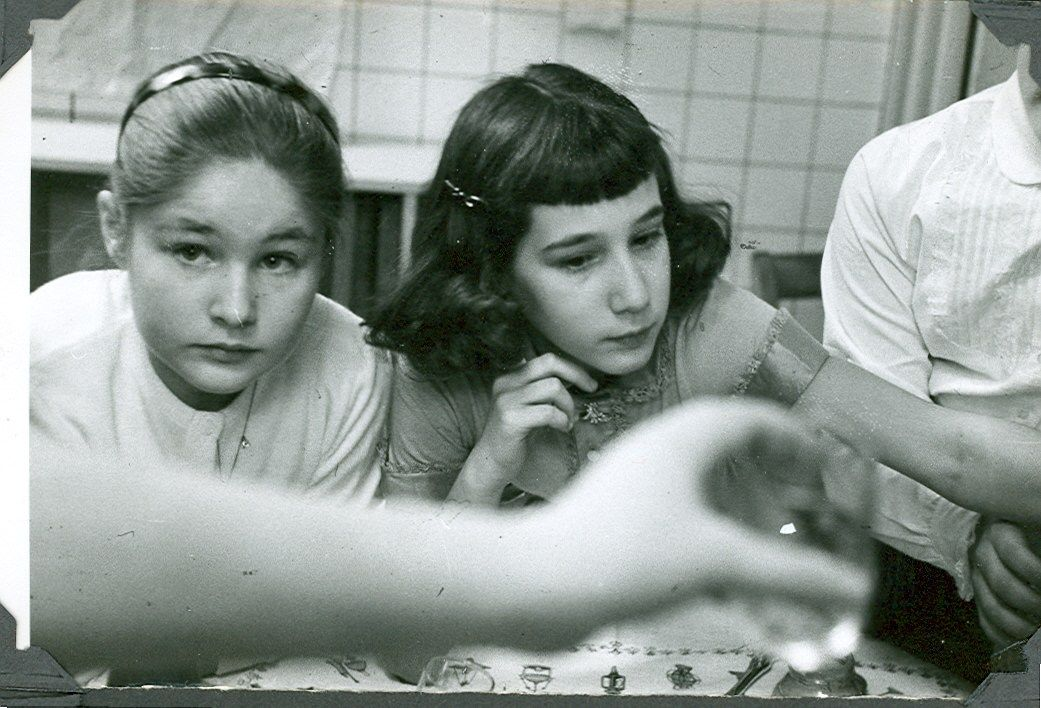 Mickey Blum, Liz G. in school c. 1954