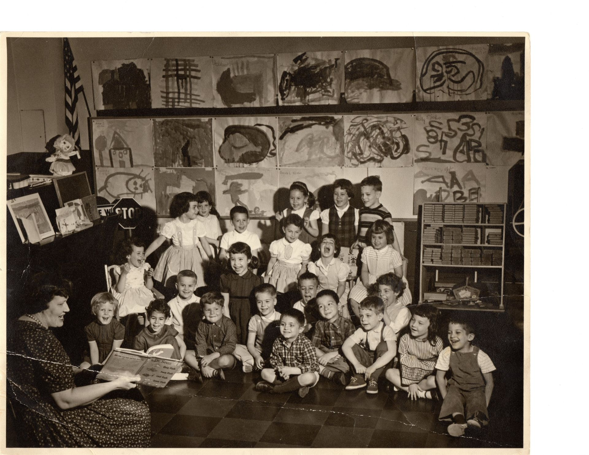HCES Class of 1966 - Kindergarten, Miss Czinner, Spring 1960