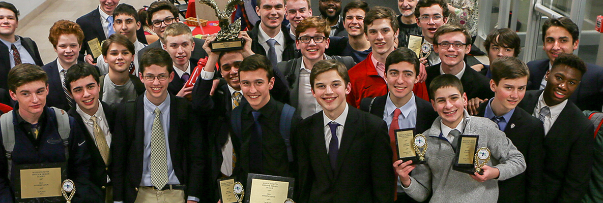 Founded in 1958, the Catholic Memorial Forensics team is the 2017 State Champion, and since 1984 has counted more than 25 Massachusetts State Champions from among its ranks.