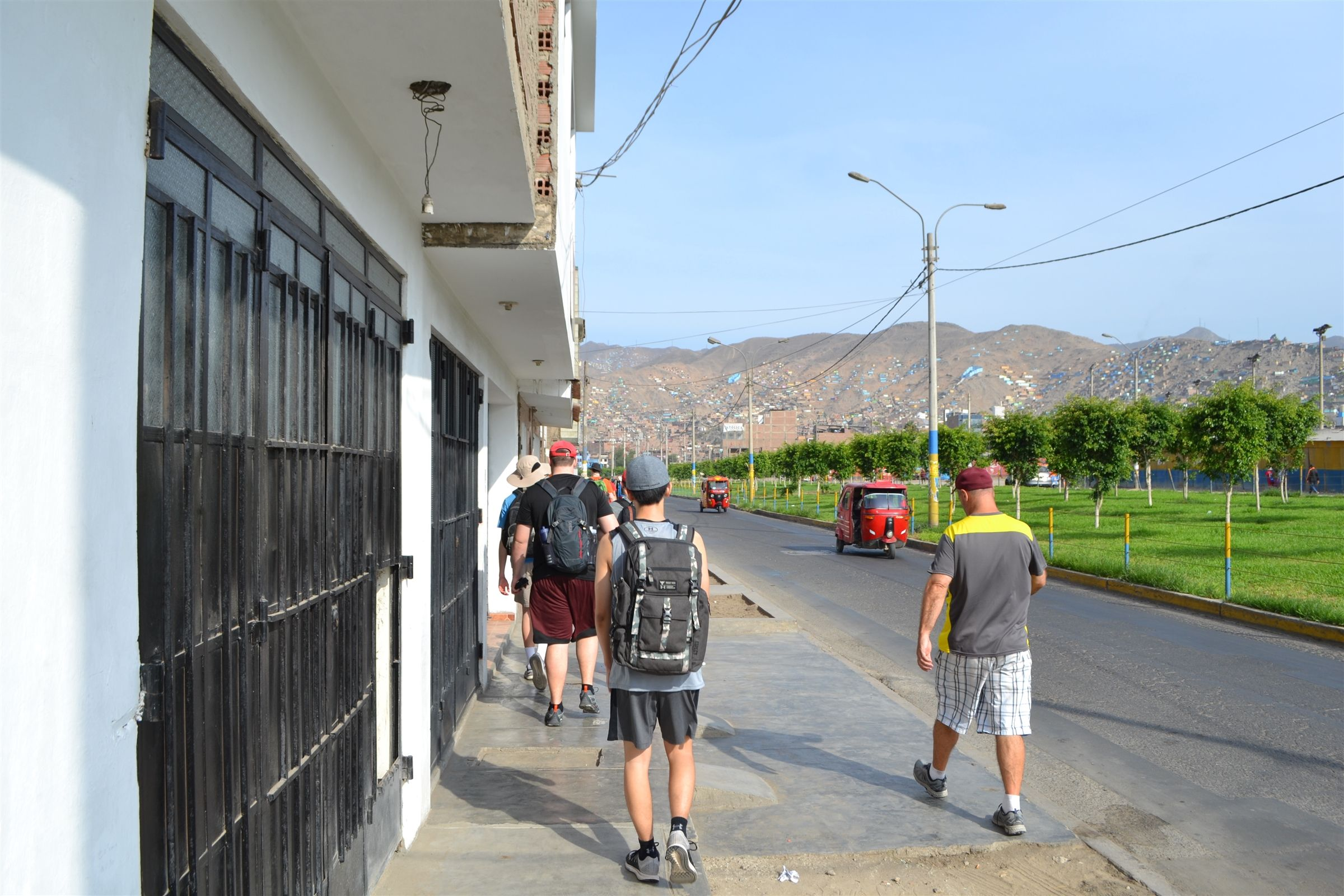 Students travel and stay in Jicamarca, one of the newer neighborhoods in the hills of Lima. The group stays in a new Christian Brothers residence attached to a family's home that school groups have constructed over the last few years.