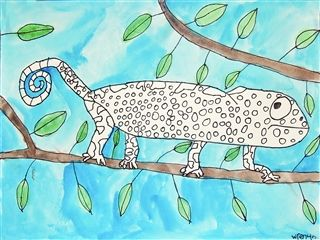 Pen & Watercolor California Animals - 4th Grade