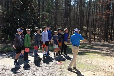 7th Grade Disc Golf Outing