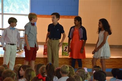 5th Graders Offer Concert for Lower School Morning Assembly