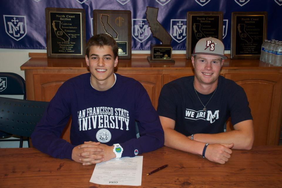 Nick Calcaterra - SF State (Basketball), Chris Moreno - Puget Sound (Baseball)