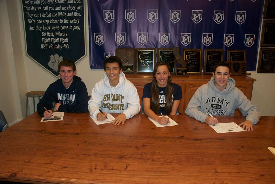Chris Hill - Navy (LAX), Nick Hallmark - Bryant (LAX), Aislinn Dresel - USD (Swimming), Austin Colvin - Army (LAX)