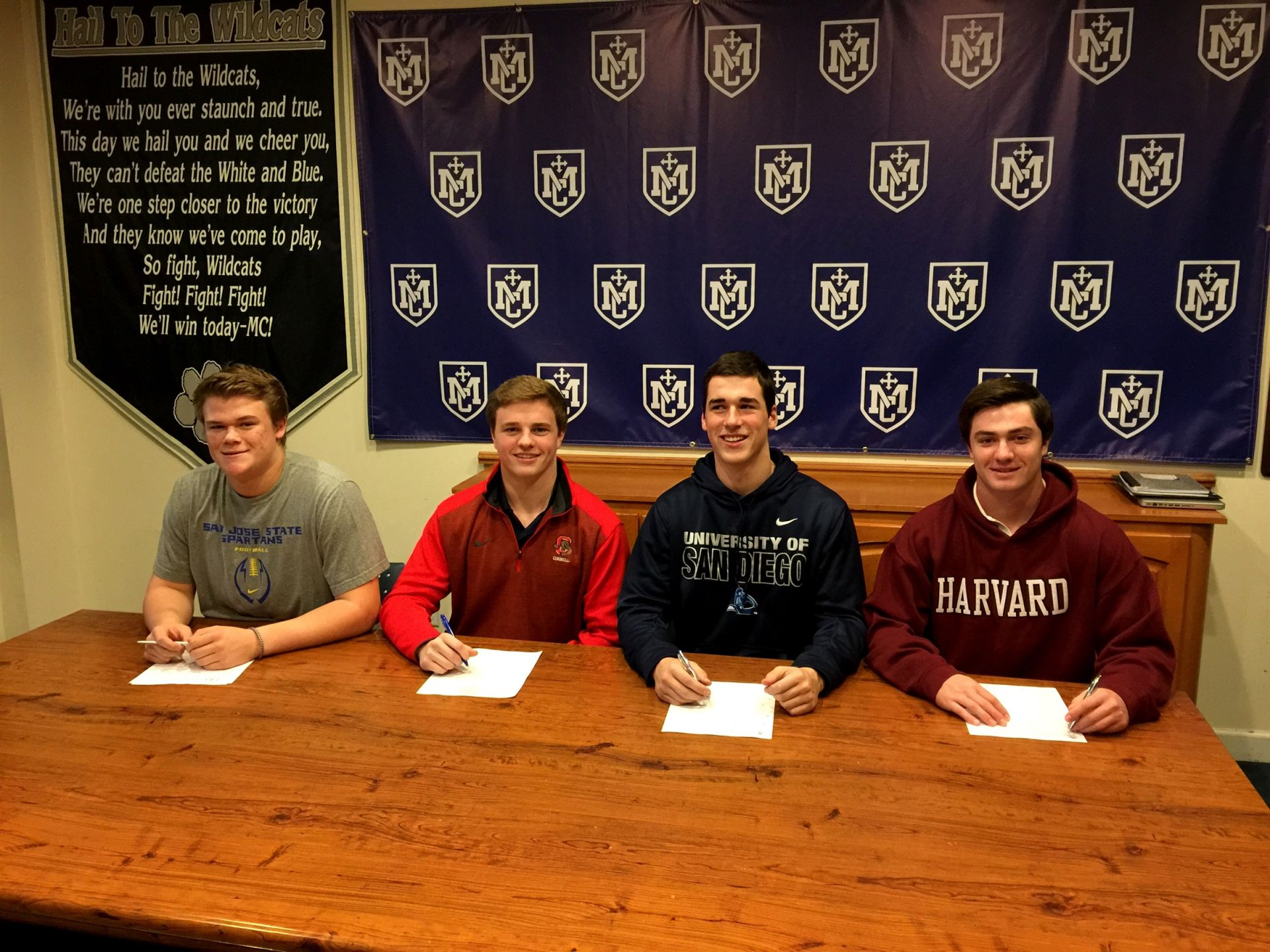 Jackson Snyder - San Jose State (Football), Ryan Kelley - Cornell (Football), Gino Ghilotti - San Diego (Football), Johnny MacLean - Harvard (Baseball)