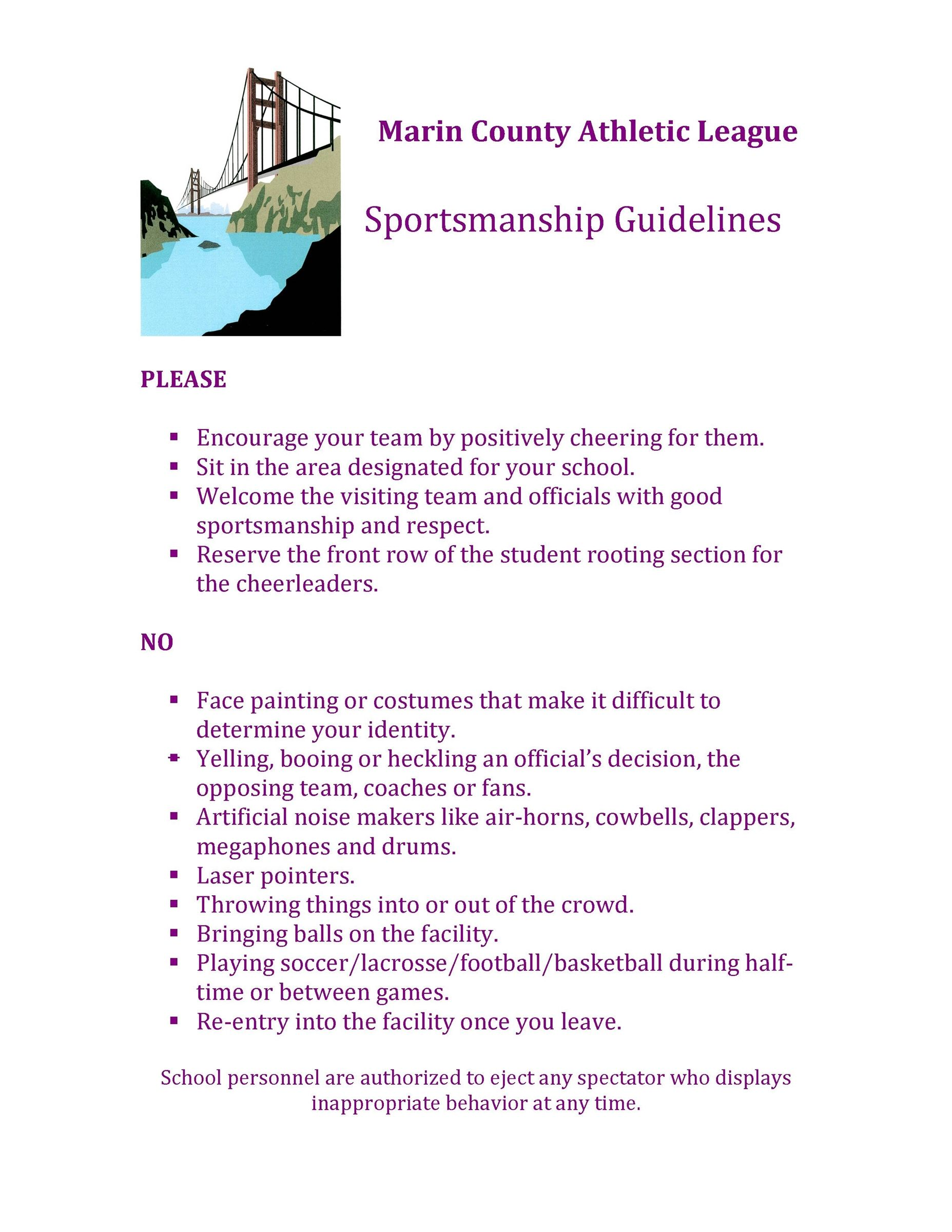 MCAL Sports Guidelines