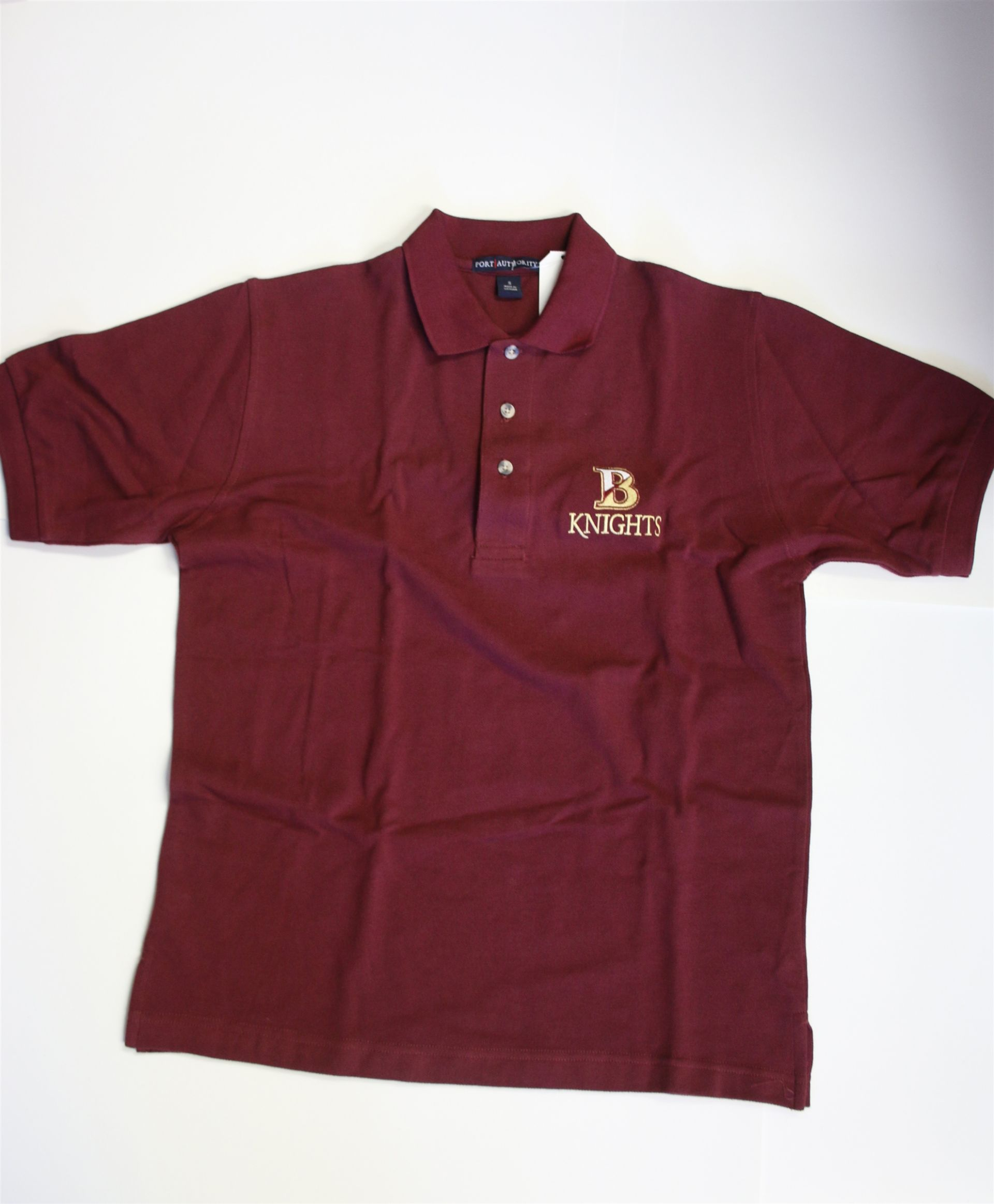 Bishop's Short Sleeve Polo Shirt - Maroon